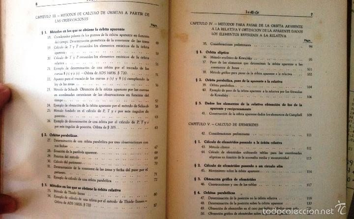 Libros de segunda mano: CÁLCULO DE ÓRBITAS DE ESTRELLAS DOBLES VISUALES (VIDAL ABASCAL, 1953) SIN USAR. - Foto 5 - 175961344