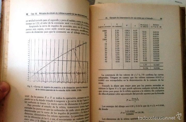 Libros de segunda mano: CÁLCULO DE ÓRBITAS DE ESTRELLAS DOBLES VISUALES (VIDAL ABASCAL, 1953) SIN USAR. - Foto 7 - 175961344