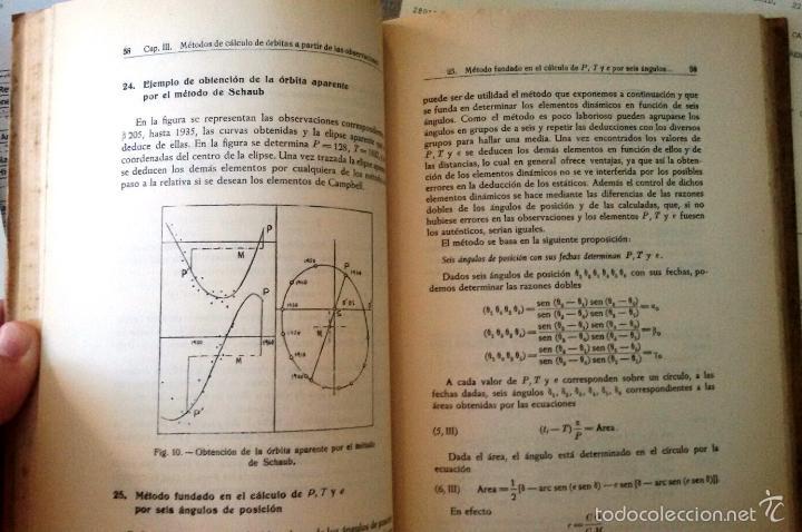Libros de segunda mano: CÁLCULO DE ÓRBITAS DE ESTRELLAS DOBLES VISUALES (VIDAL ABASCAL, 1953) SIN USAR. - Foto 10 - 175961344