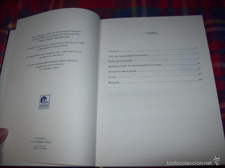 Libros de segunda mano: ANY INTERNACIONAL DE L ASTRONOMIA.AGENDA PER A 2009. INCLOU ESTOIG. J.J DE OLAÑETA. MALLORCA - Foto 4 - 58091415