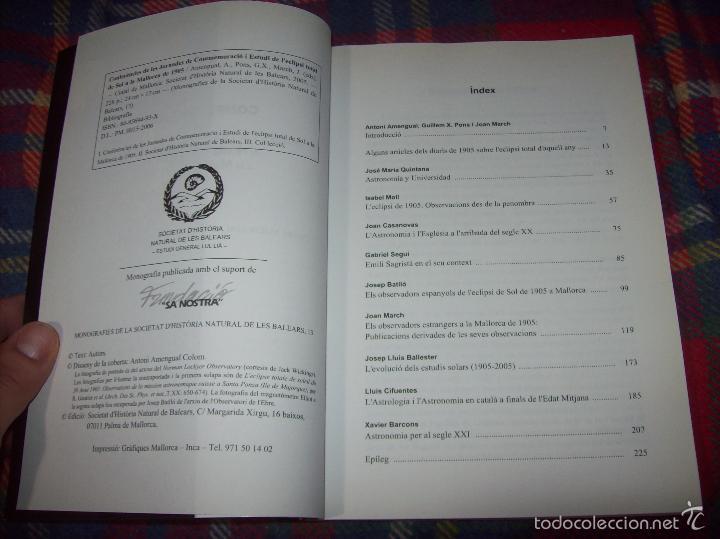 Libros de segunda mano: CONFERÈNCIES DE LES JORNADES DE COMMEMORACIÓ DE LECLIPSI TOTAL DE SOL A LA MALLORCA DE 1905. FOTOS - Foto 4 - 58717484