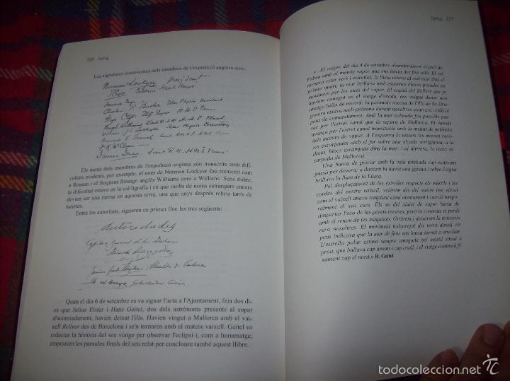 Libros de segunda mano: CONFERÈNCIES DE LES JORNADES DE COMMEMORACIÓ DE LECLIPSI TOTAL DE SOL A LA MALLORCA DE 1905. FOTOS - Foto 22 - 58717484