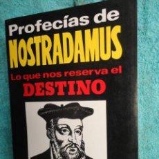 Libros de segunda mano: PROFECIAS DE NOSTRADAMUS , LO QUE NOS RESERVA EL DESTINO , DR. KLAUS BERGMAN , 1987. Lote 70297993