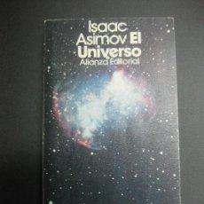 Libros de segunda mano: ISAAC ASIMOV. EL UNIVERSO. ALIANZA EDITORIAL. 1971.. Lote 71276999