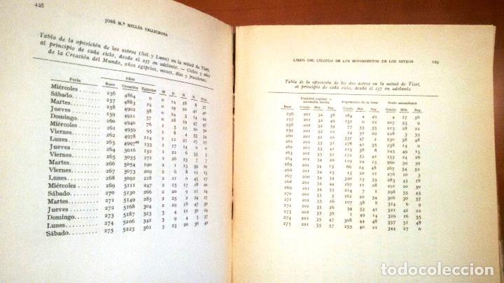 Libros de segunda mano: LIBRO DEL CÁLCULO DE LOS MOVIMIENTOS DE LOS ASTROS (A.B.HIYYA - ED. 1959) SIN USAR - Foto 4 - 61996352