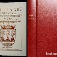 Libros de segunda mano: ROCAMORA Y TORRANO, GINÉS DE. SPHERA DEL UNIVERSO. FACSÍMIL DE LA EDICIÓN DE MADRID, 1599. 1999.. Lote 89050104