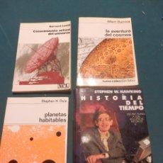 Libros de segunda mano: LA AVENTURA DEL COSMOS + CONOCIMIENTO ACTUAL DEL UNIVERSO + PLANETAS HABITABLES +HISTORIA DEL TIEMPO. Lote 95805379