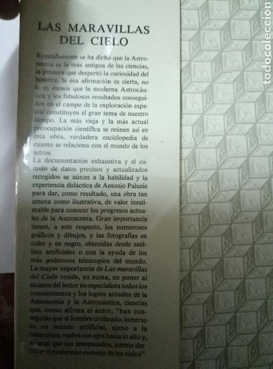 Libros de segunda mano: LAS MARAVILLAS DEL CIELO. Antonio Paluzie - Foto 2 - 96431614