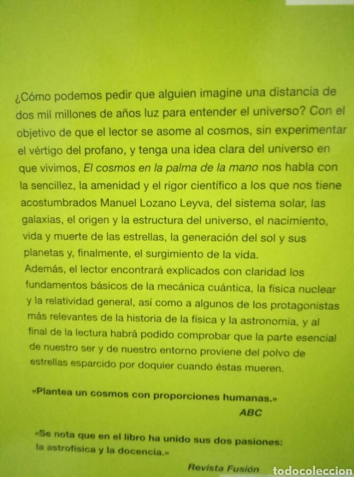 Libros de segunda mano: EL COSMOS EN LA PALMA DE LA MANO. MANUEL LOZANO LEYVA - Foto 2 - 96450774