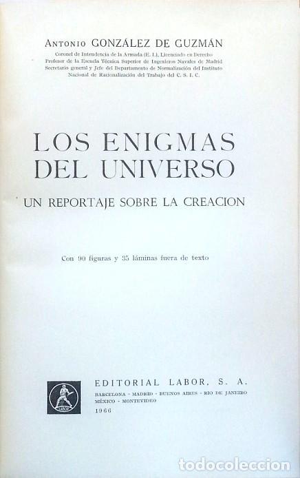 LOS ENIGMAS DEL UNIVERSO – ANTONIO GONZÁLEZ DE GUZMÁN (Libros de Segunda Mano - Ciencias, Manuales y Oficios - Astronomía)
