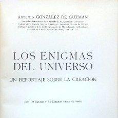 Libros de segunda mano: LOS ENIGMAS DEL UNIVERSO – ANTONIO GONZÁLEZ DE GUZMÁN. Lote 98139635