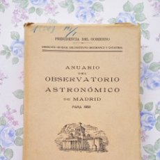 Libros de segunda mano: 1958 ANUARIO ASTRONOMICO NACIONAL MADRID ASTRONOMIA GEOGRAFIA. Lote 54954853