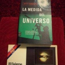 Libros de segunda mano: LA MEDIDA DEL UNIVERSO + EL UNIVERSO. Lote 109502575
