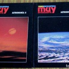 Libros de segunda mano: 2 LIBROS - ASTRONOMÍA VIDEO - ENCICLOPEDIA MUY INTERESANTE. Lote 110028599