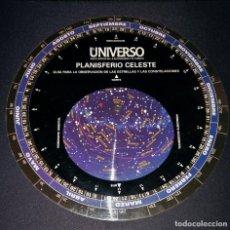 Libros de segunda mano: PLANISFERIO CELESTE DE LA ENCICLOPEDIA DE LA ASTRONOMÍA Y EL ESPACIO EL UNIVERSO PLANETA DE AGOSTINI. Lote 111441447