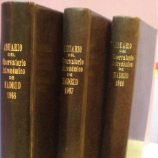 Libros de segunda mano: ANUARIO DEL OBSERVATORIO ASTRONÓMICO DE MADRID - 1966 / 1967 / 1968 - 3 LIBROS. Lote 115281651