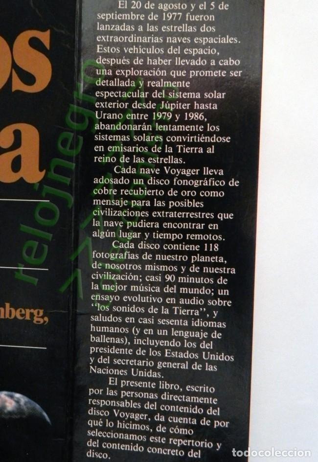 Libros de segunda mano: MURMULLOS DE LA TIERRA LIBRO CARL SAGAN - MENSAJE VOYAGER ESPACIO VIDA EXTRATERRESTRE CIENCIAS NAVES - Foto 3 - 115917135