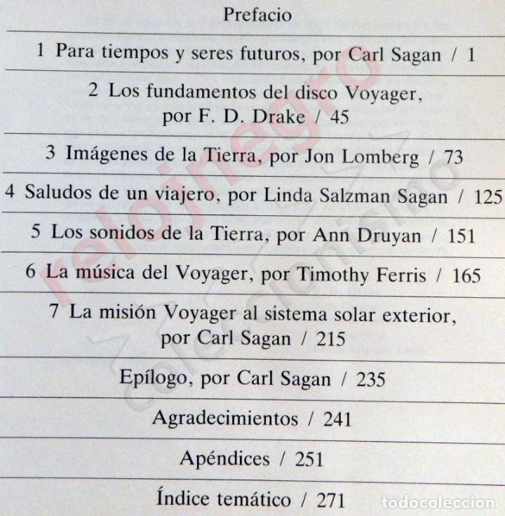 Libros de segunda mano: MURMULLOS DE LA TIERRA LIBRO CARL SAGAN - MENSAJE VOYAGER ESPACIO VIDA EXTRATERRESTRE CIENCIAS NAVES - Foto 4 - 115917135