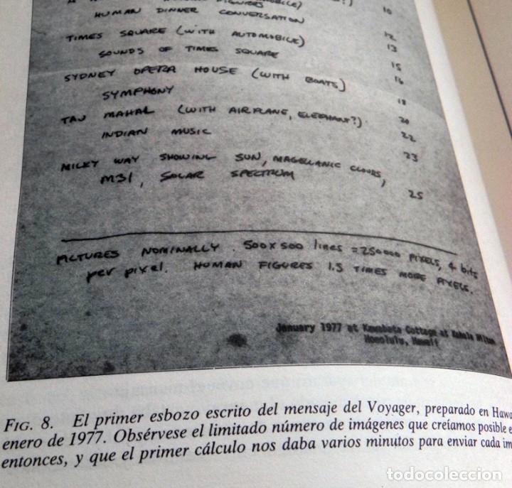 Libros de segunda mano: MURMULLOS DE LA TIERRA LIBRO CARL SAGAN - MENSAJE VOYAGER ESPACIO VIDA EXTRATERRESTRE CIENCIAS NAVES - Foto 7 - 115917135