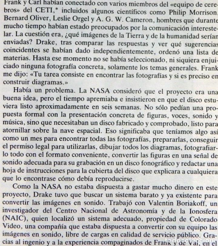 Libros de segunda mano: MURMULLOS DE LA TIERRA LIBRO CARL SAGAN - MENSAJE VOYAGER ESPACIO VIDA EXTRATERRESTRE CIENCIAS NAVES - Foto 8 - 115917135