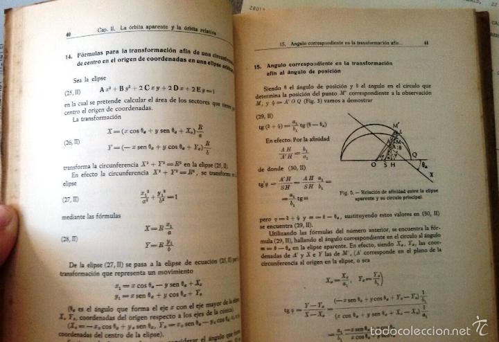 Libros de segunda mano: CÁLCULO DE ÓRBITAS DE ESTRELLAS DOBLES VISUALES (VIDAL ABASCAL, 1953) SIN USAR. - Foto 3 - 175961344