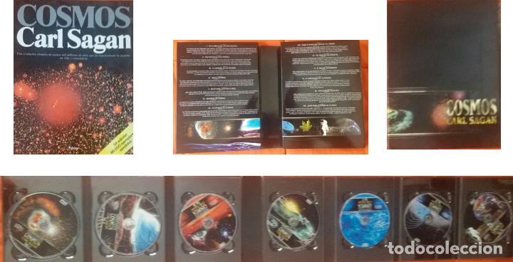 COSMOS - CARL SAGAN – LIBRO MAS PACK DE 7 DVDS (Libros de Segunda Mano - Ciencias, Manuales y Oficios - Astronomía)