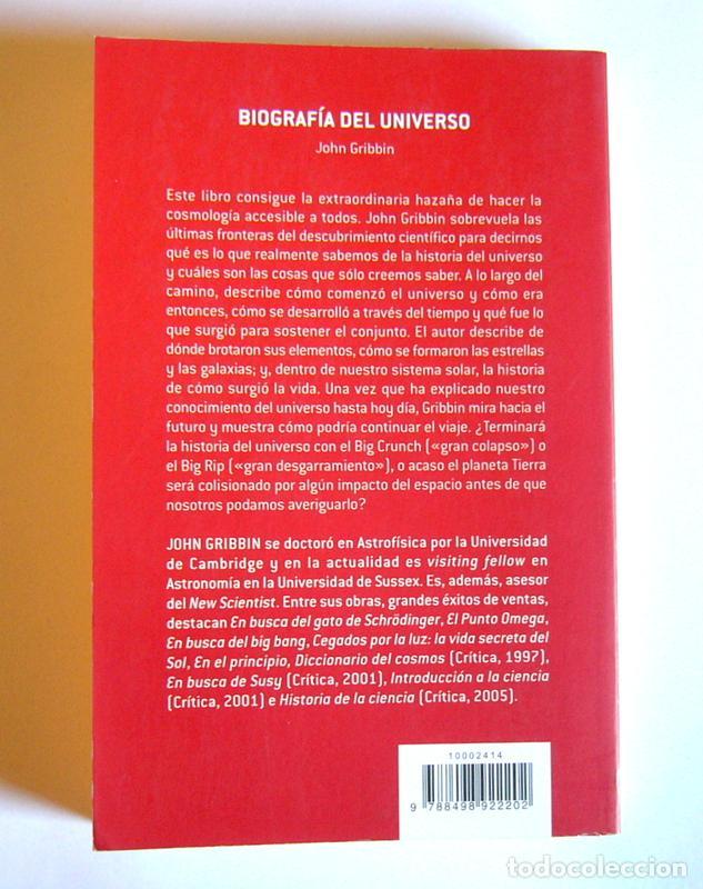 Libros de segunda mano: BIOGRAFIA DEL UNIVERSO - JOHN GRIBBIN - Foto 2 - 137677778