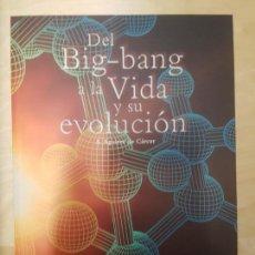 Libros de segunda mano: DEL BIG BANG A LA VIDA Y SU EVOLUCION A. AGUIRRE DE CÁRCER CENTRO DE ASTROBIOLOGIA . Lote 138841778