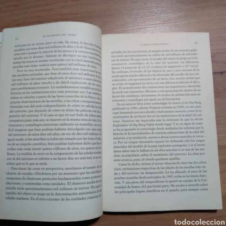 Libros de segunda mano: El nacimiento del tiempo. John Gribbin. - Foto 4 - 146101628