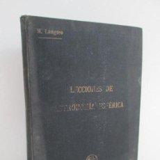 Libros de segunda mano: LECCIONES DE ASTRONOMIA ESFERICA. TEORIA Y USO DEL TEODOLITO. MGUEL LANGREO Y CONTRERAS. 1944. Lote 147720634