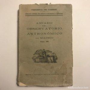 Anuario del observatorio astronómico de Madrid para 1961