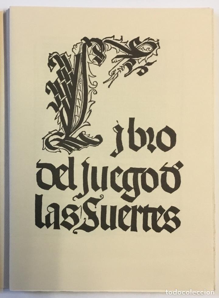 Libros de segunda mano: LIBRO DEL JUEGO DE LAS SUERTES (VALENCIA, 1515). - [Facsímil.] - Foto 3 - 123265666