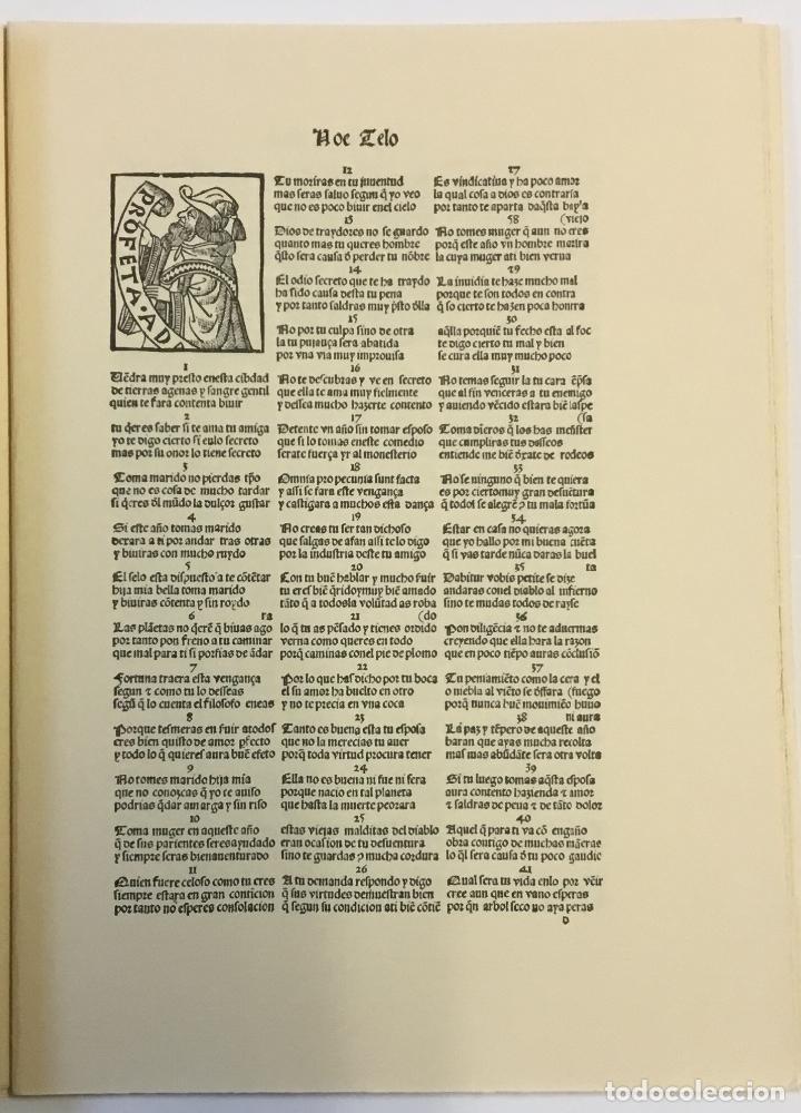 Libros de segunda mano: LIBRO DEL JUEGO DE LAS SUERTES (VALENCIA, 1515). - [Facsímil.] - Foto 8 - 123265666