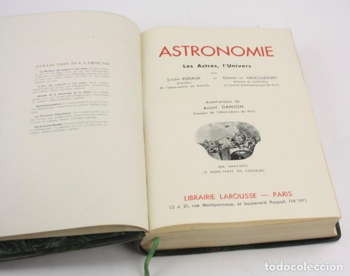 Libros de segunda mano: Astronomie, les astres, lunivers, 1948, L. Rudaux, G. Vaucouleurs, Paris. 31x23cm - Foto 2 - 150330494