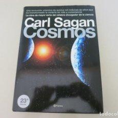 Libros de segunda mano: ASTRONOMIA COSMOS CARL SAGAN TAPA DURA CON SOBRECUBIERTA 23 EDICION. Lote 155444270