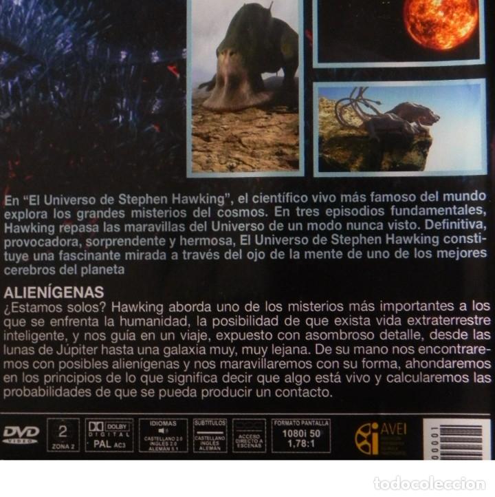 Libros de segunda mano: DVD DOCUMENTAL EL UNIVERSO DE STEPHEN HAWKING ALIENÍGENAS CIENCIA EXOBIOLOGÍA VIDA EXTRAT. -NO LIBRO - Foto 2 - 159125574