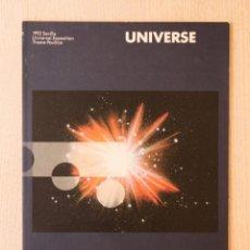 Libros de segunda mano: UNIVERSE. 1992 SEVILLE UNIVERSAL EXPOSITION. THEME PAVILION. (EXPO'92) - V.V.A.A.. Lote 162718716