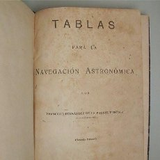 Libros de segunda mano: TABLAS PARA LA NAVEGACIÓN ASTRONÓMICA (SAN FERNANDO - CÁDIZ) IMPRENTA OBSERVATORIO DE MARINA 1956. Lote 171621212