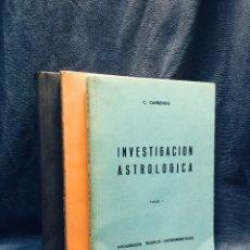 Libros de segunda mano: INVESTIGACION ASTROLOGICA 3 T CARLOS CARNEADO CIRCUNSTANCIAS DE MUERTE FIRMADOS AUTOR 77 78 79 . Lote 177830253