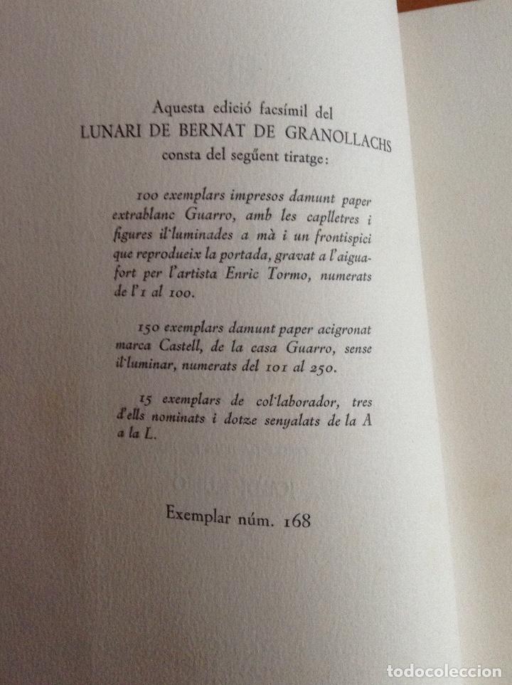 Libros de segunda mano: Granollachs - LUNARI. Edició de 1513. Reproducció facsímil de lexemplar - Barcelona 1948 - - Foto 3 - 177945102