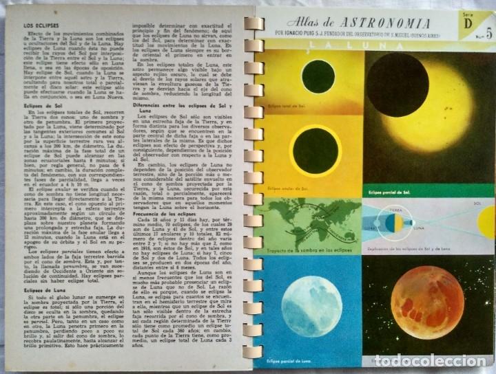 Libros de segunda mano: ATLAS DE ASTRONOMIA. I. PUIG, S.J. - Foto 3 - 182414173