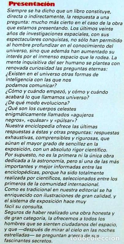 Libros de segunda mano: ENCICLOPEDIA SARPE DE LA ASTRONOMÍA - COMPLETA - 1982 - 2687 PÁGINAS - VER ÍNDICES Y FOTOS - Foto 3 - 194192977