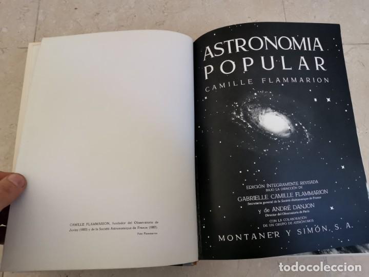 Libros de segunda mano: ENORME TOMO ASTRONOMÍA POPULAR CAMILLE FLAMMARION MONTANER Y SIMON 1963 PISIBLE RECOGIDA EN MALLORCA - Foto 3 - 195287360