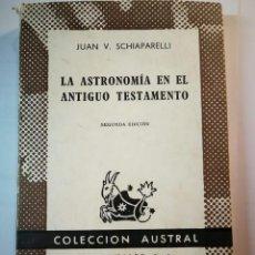 Libros de segunda mano: LA ASTRONOMÍA EN EL ANTIGUO TESTAMENTO. JUAN V. SCHIAPARELLI. Lote 196253742