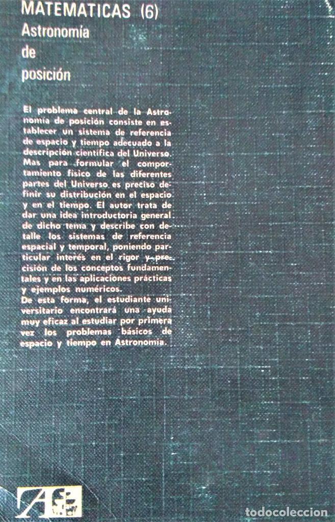 Libros de segunda mano: ASTRONOMÍA DE POSICIÓN - TEODORO J.VIVES - EDITORIAL ALHAMBRA - Foto 2 - 205006887