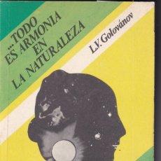 Livros em segunda mão: L. V. GOLOVÁNOV: ... ES TODO ARMONÍA EN LA NATURALEZA. MOSCÚ, MIR, 1982. ASTRONOMÍA. Lote 205101087