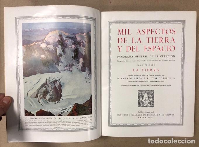 Libros de segunda mano: MIL ASPECTOS DE LA TIERRA Y DEL ESPACIO (PANORAMA GENERAL DE LA CREACIÓN). 2 TOMOS. (1949). - Foto 4 - 209172240