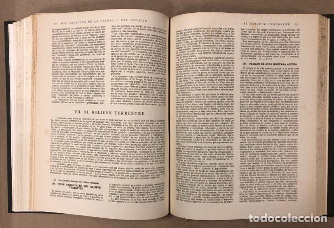Libros de segunda mano: MIL ASPECTOS DE LA TIERRA Y DEL ESPACIO (PANORAMA GENERAL DE LA CREACIÓN). 2 TOMOS. (1949). - Foto 9 - 209172240