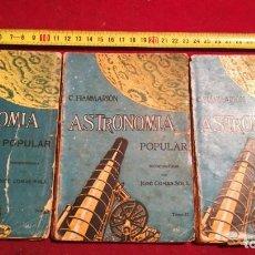 Libros de segunda mano: TRES LIBROS ASTRONOMÍA POPULAR. Lote 212251080