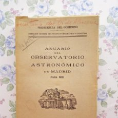 Libros de segunda mano: 1962 ANUARIO ASTRONÓMICO NACIONAL - MADRID ASTRONOMÍA. Lote 225567170